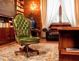 bureau classique fauteuil de bureau classique en cuir inclinable à roulettes