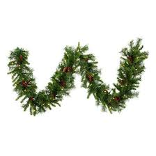 vickerman 9 cheyenne artificial garland with 50 warm