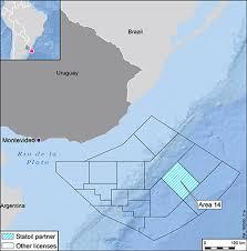 Map Of Uruguay Statoil To Explore Offshore Uruguay Statoil Com