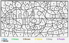 printable color number difficult free coloring pages art