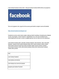 como hackear un facebook facil rapido y sin programas como hackear facebook octubre 2014