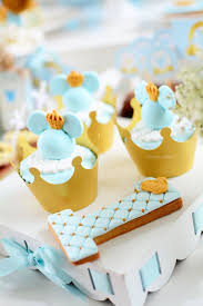 mickey mouse cupcakes kara s party ideas mickey mouse cupcakes in crown cups from a