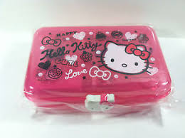 sanrio pink color kitty pack case ruler