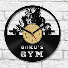 Modern Bedroom Wall Clocks Vinyl Clock Goku U0027s Gym Clocks And Knives