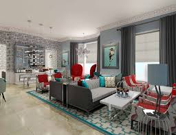 victorian home design with elegant sofas and armchairs crystal