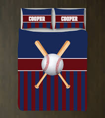 Baseball Bed Sets Personalized Baseball Bedding With And Bats Shop Wunderkinds