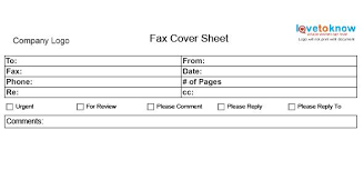fax cover sheet lovetoknow