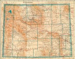 Sheridan Wyoming Map Wyoming Homesteading Wyoming Historical Maps
