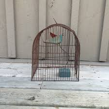 rustic bird cage vintage rusty bird cage cottage chic home decor