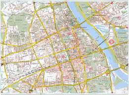 road map maps of warsaw detailed map of warsaw in maps of