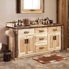 Rustic Bathroom Cabinets Vanities - real hickory rustic bathroom vanity 48