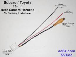 subaru 16 pin rear camera harness