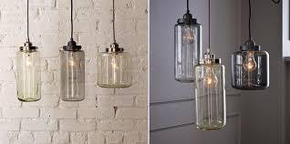 Glass Jar Pendant Light Bright Idea West Elm Pendant Jars Mayhar Design
