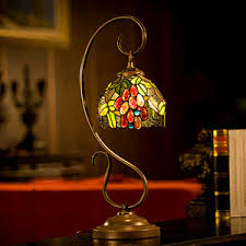 vintage stained glass shade tiffany light fixture