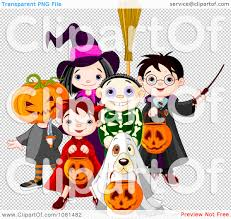 animal jam halloween background clipart group of halloween trick or treating kids and a dog