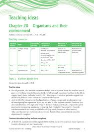 Food Chains Worksheet Cambridge Igcse Biology Teacher U0027s Resource Third Edition By