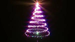 light tree animation graphics on a black background