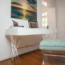 acrylic table with shelves and white lacquer possible furniture