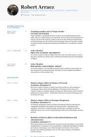 Sample Resume For Master Degree Application by Project Leader Resume Samples Visualcv Resume Samples Database