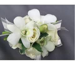 White Wrist Corsage Corsages U0026 Boutonnieres Delivery Bowmanville On Van Belle Floral