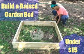 How To Build A Raised Flower Bed How To Build A Raised Garden Bed For Under 15 Crafty Gemini