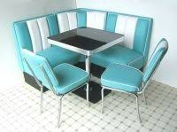 diner style booth table american style retro 50s kitchen diner booth table and 3 chairs