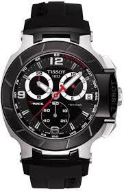 tissot watches leather bracelet images Buy tissot men 39 s t race black dial rubber band chronograph watch jpg
