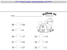 all worksheets first grade missing addends worksheets