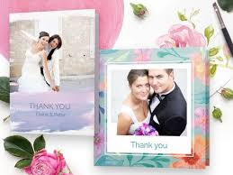 wedding thank you cards w photos 48hr delivery optimalprint uk