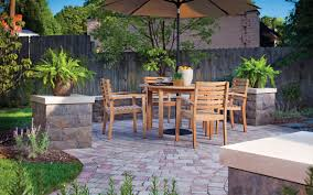 Paving Stone Designs For Patios by Exterior Design Interesting Belgard Pavers With Stone Bench For