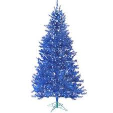 Christmas Tree With Blue Decorations - blue christmas trees you u0027ll love wayfair