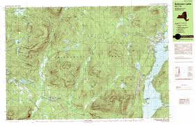 Map Ny Schroon Lake Topographic Map Ny Usgs Topo Quad 43073g7