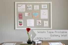 Washi Tape Wall by Pretty Bitty Bugs Washi Tape Printable Gallery Wall