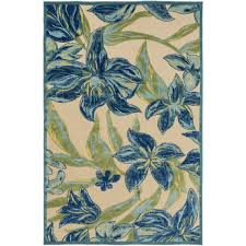 Hibiscus Rug Alcott Hill Winfrey Blue Indoor Outdoor Area Rug U0026 Reviews Wayfair
