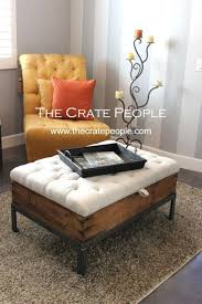 coffee tables simple round cocktail ottoman upholstered small