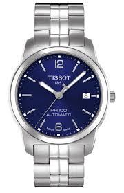 tissot steel bracelet images Tissot t classic pr100 men 39 s 38mm automatic blue dial steel png