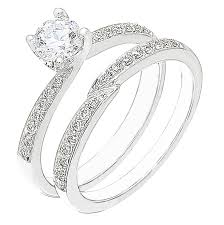 white gold wedding ring sets diamond white gold wedding engagement ring set
