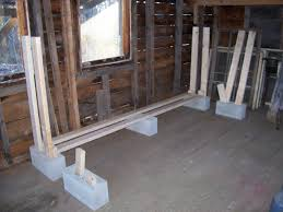 Wood Storage Rack Plans by Diy Indoor Cinderblock Firewood Rack Storage Design Using