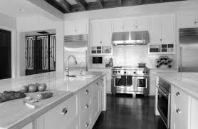 Transitional White Kitchen - kitchen cute white shaker kitchen cabinets grey floor