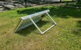 How To Build A Tent by How To Build An Easy Portable Solar Panel Mount Out Of Pvc