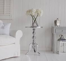 White Side Tables For Living Room Polished Metal Side Table White And Grey Living Room