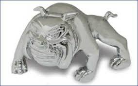 chrome bull ornament fighter bulldog