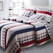 Bedroom Ideas Kmart Bedroom Striped And Plaid Pattern Quilt Combined With Pillowcase