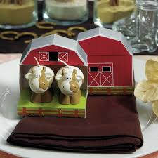 country wedding favors cow candles favours in barn box the knot shop