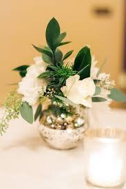 Bud Vase Arrangements Rose And Greenery Arrangement In Mercury Glass Bud Vase