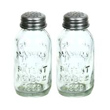 kitchen collectibles amazon com set of 2 glass mason jar salt and pepper shakers