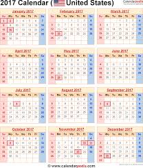 2017 calendar with federal holidays excel pdf word templates