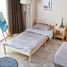 Single Beds For Adults 3ft Single Pine Bed Frame Solid With Vertical Slats Headboard