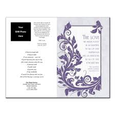printing wedding programs wedding program 6337 with printing pack of 150 wedding