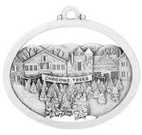 detail pewter winter scences ornaments made in the usa